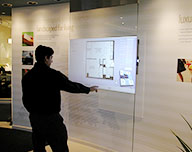 interactive multi touch display surface computing screen
